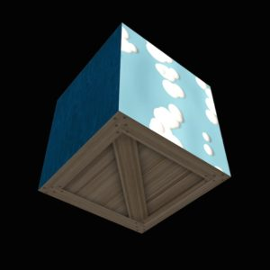 A textured cube
